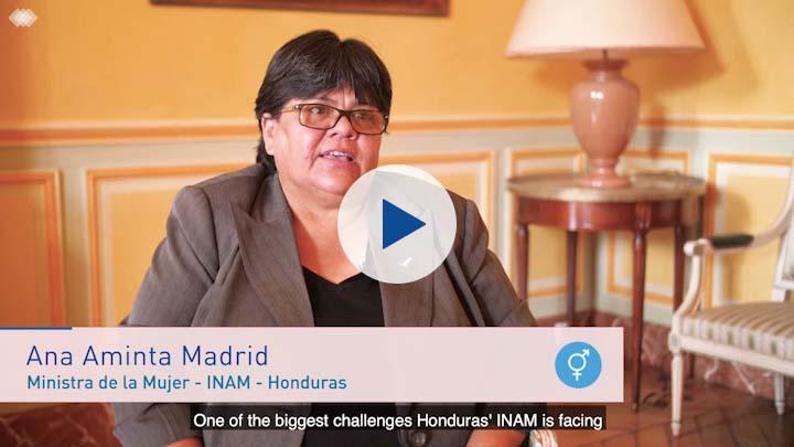 Entrevista con Ana Aminta Madrid, Ministra de la Mujer -INAM-, Honduras
