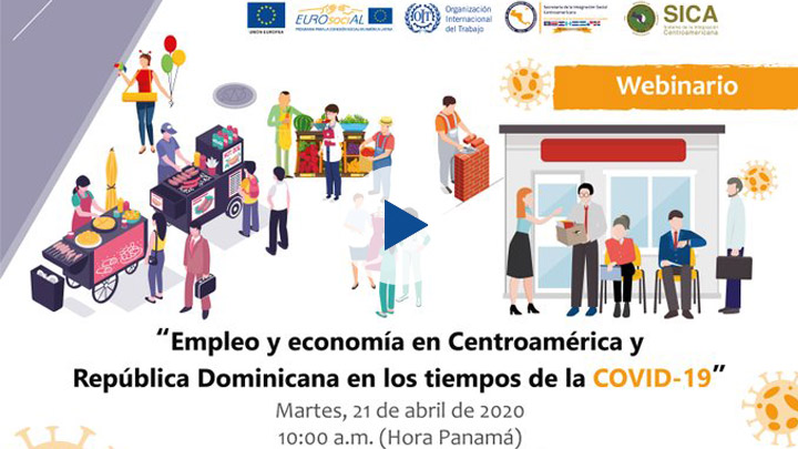 """Seminario web """"Empleo y economía en Centroamérica y República Dominicana en tiempos de la COVID-19"""""""