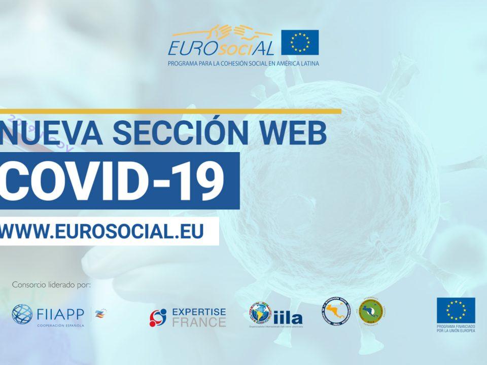 Nueva sección web COVID-19 EUROsociAL+