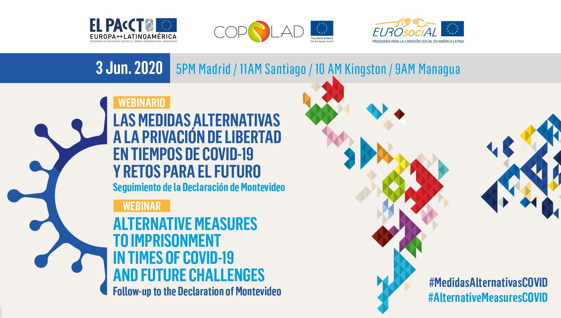 Las medidas alternativas a la prisión, una necesidad para la cooperación UE-ALC en tiempos de Covid-19