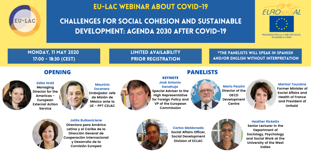 EU-LAC 'Challenges for Social Cohesion & Sustainable Development: Agenda 2030 after COVID-19'