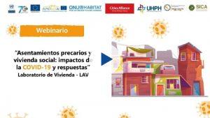 """Seminario web """"Asentamientos precarios y vivienda social: impactos de la COVID-19 y respuestas"""""""