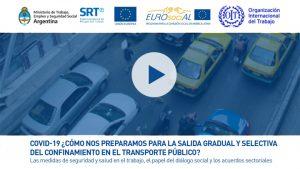 Seminario web COVID19 y transporte publico OIT_MTES_SRT_EUROsociAL 30_06_20
