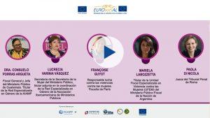 EUROsociAL Seminario web Sancion violencias PANELISTAS PLAY