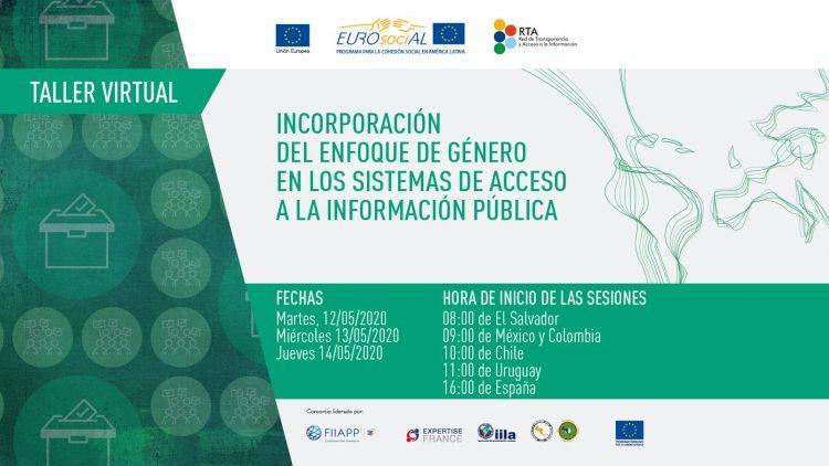 """Taller virtual """"Incorporación del enfoque de género en las políticas de transparencia y acceso a la información pública en América Latina"""""""