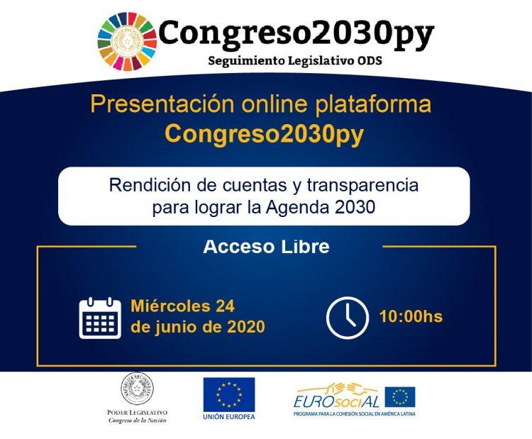 Lanzamiento de la plataforma Congreso 2030 de Paraguay para el seguimiento legislativo de los Objetivos de Desarrollo Sostenible