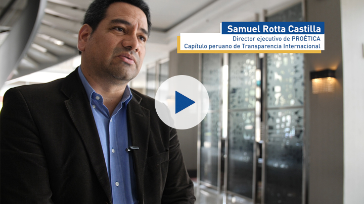 Corruption and gender series: Samuel Rotta Castilla, director of Proética, the Peruvian section of Transparency International