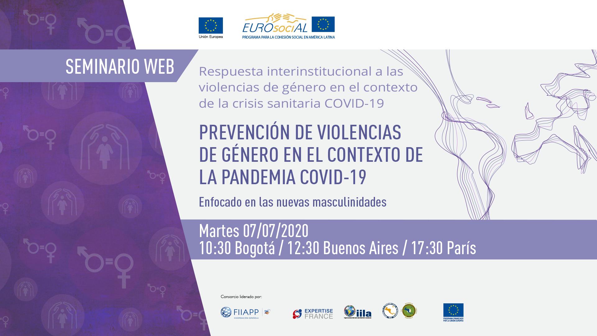 Prevención de violencias de género en el contexto de la pandemia COVID-19. Enfocado en nuevas masculinidades.