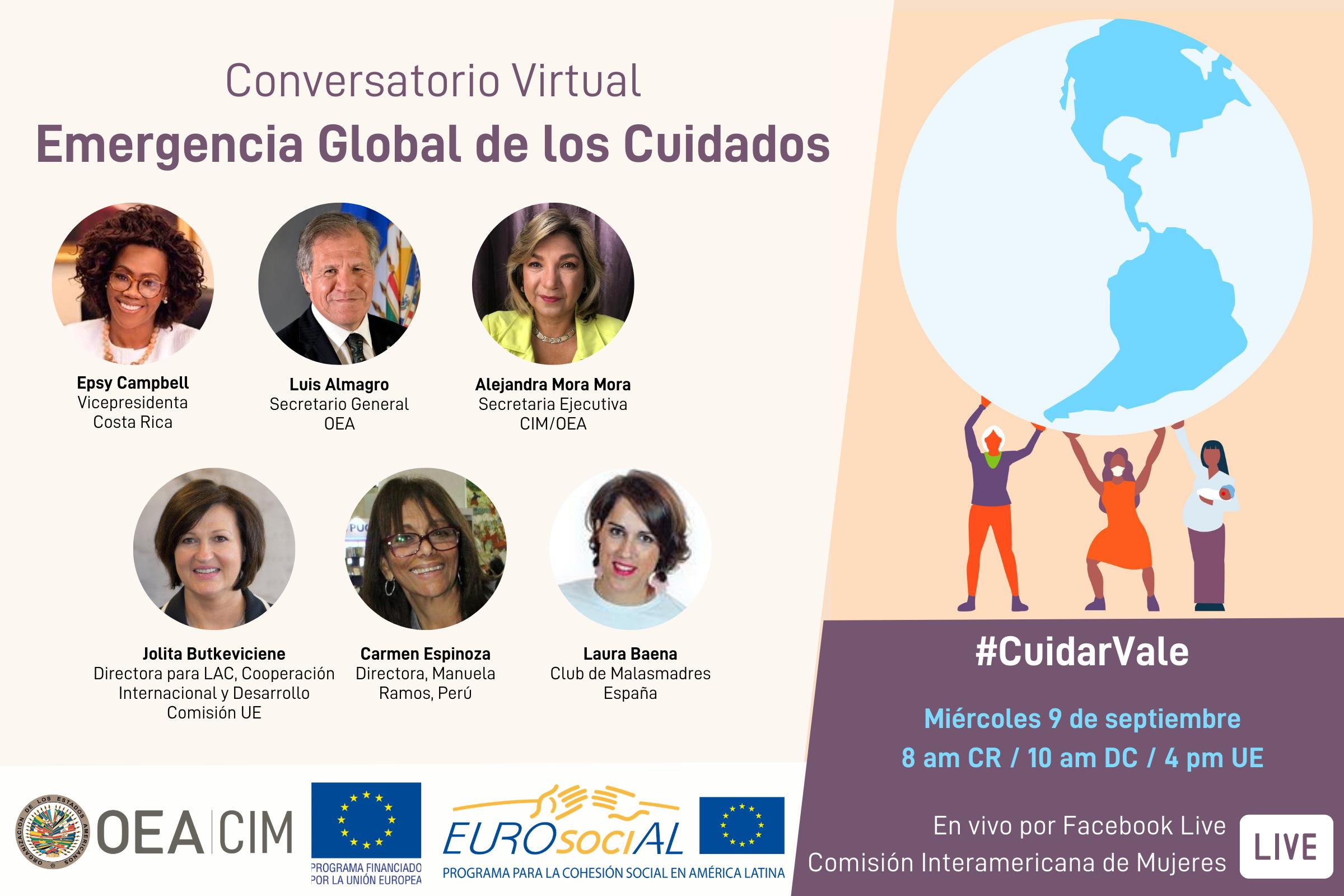 """Conversatorio virtual """"COVID-19 en la vida de las mujeres: emergencia global de los cuidados"""""""