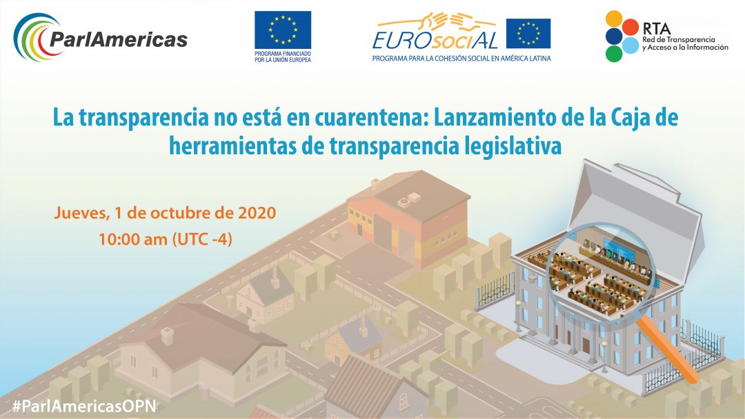 Transparency is not in quarantine: the launch of the legislative transparency toolbox