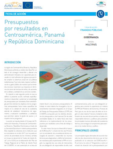 Presupuestos por resultados en Centroamérica, Panamá y República Dominicana