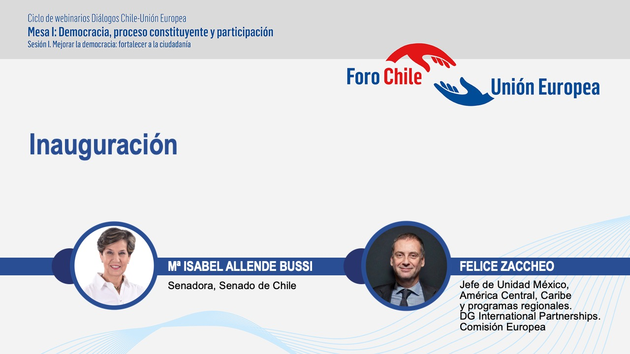 "Democracy, Constitutional Process and Participation, first technical table of the series of ""Chile-European Union Dialogues"""