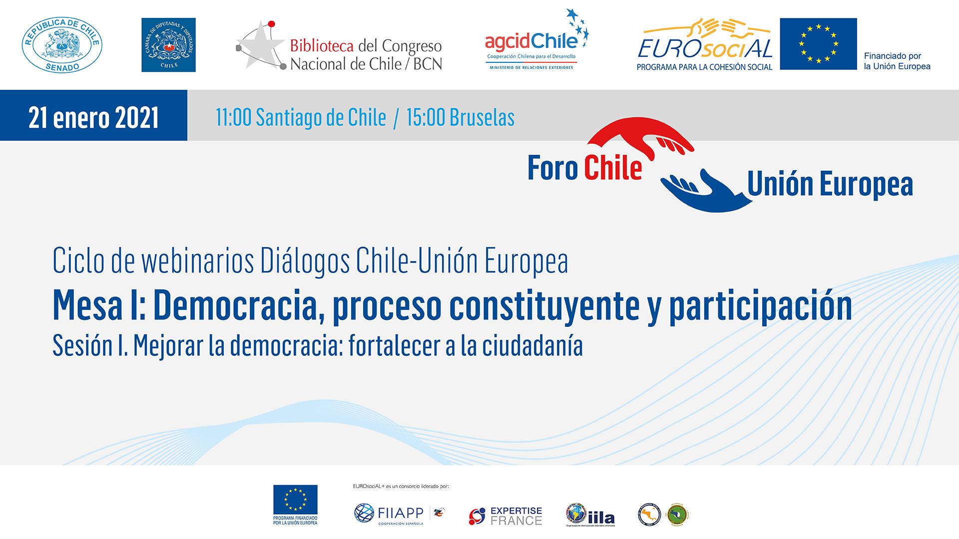 """Mesa I Democracia, proceso constituyente y participación. Sesión """"Mejorar la democracia: fortalecer la ciudadanía"""""""