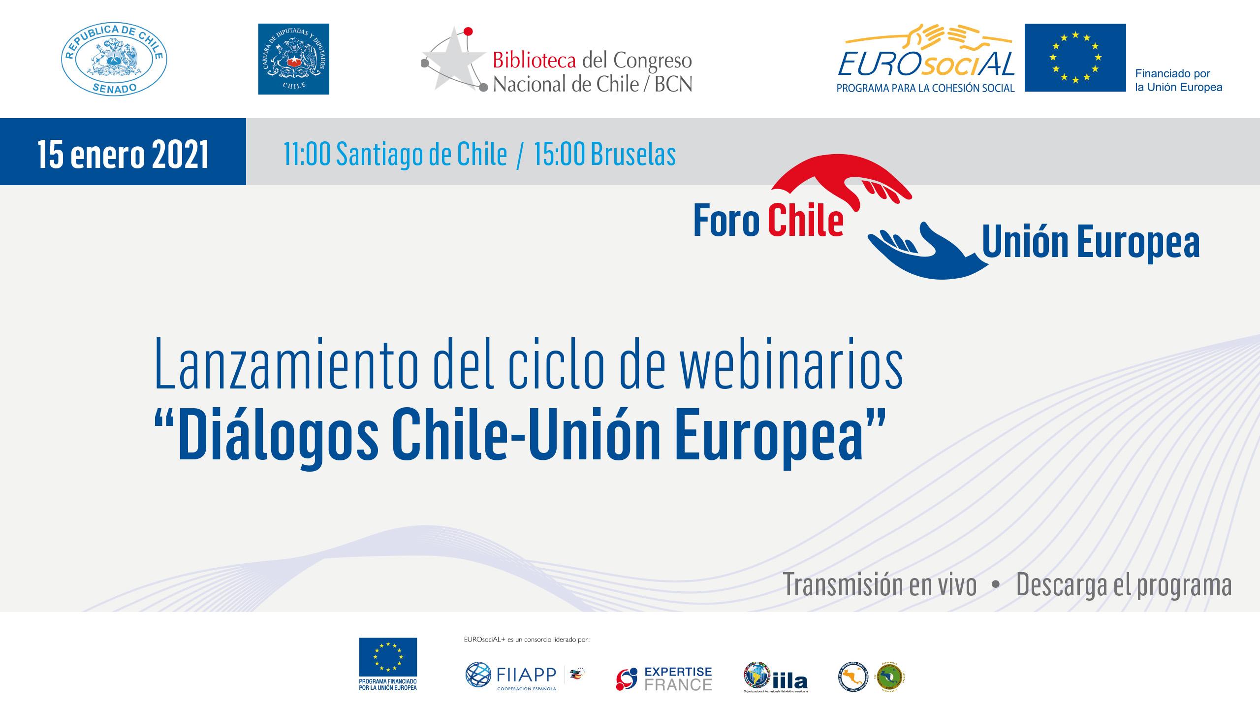 Diálogos Chile-Unión Europea. Lanzamiento de la serie de webinarios