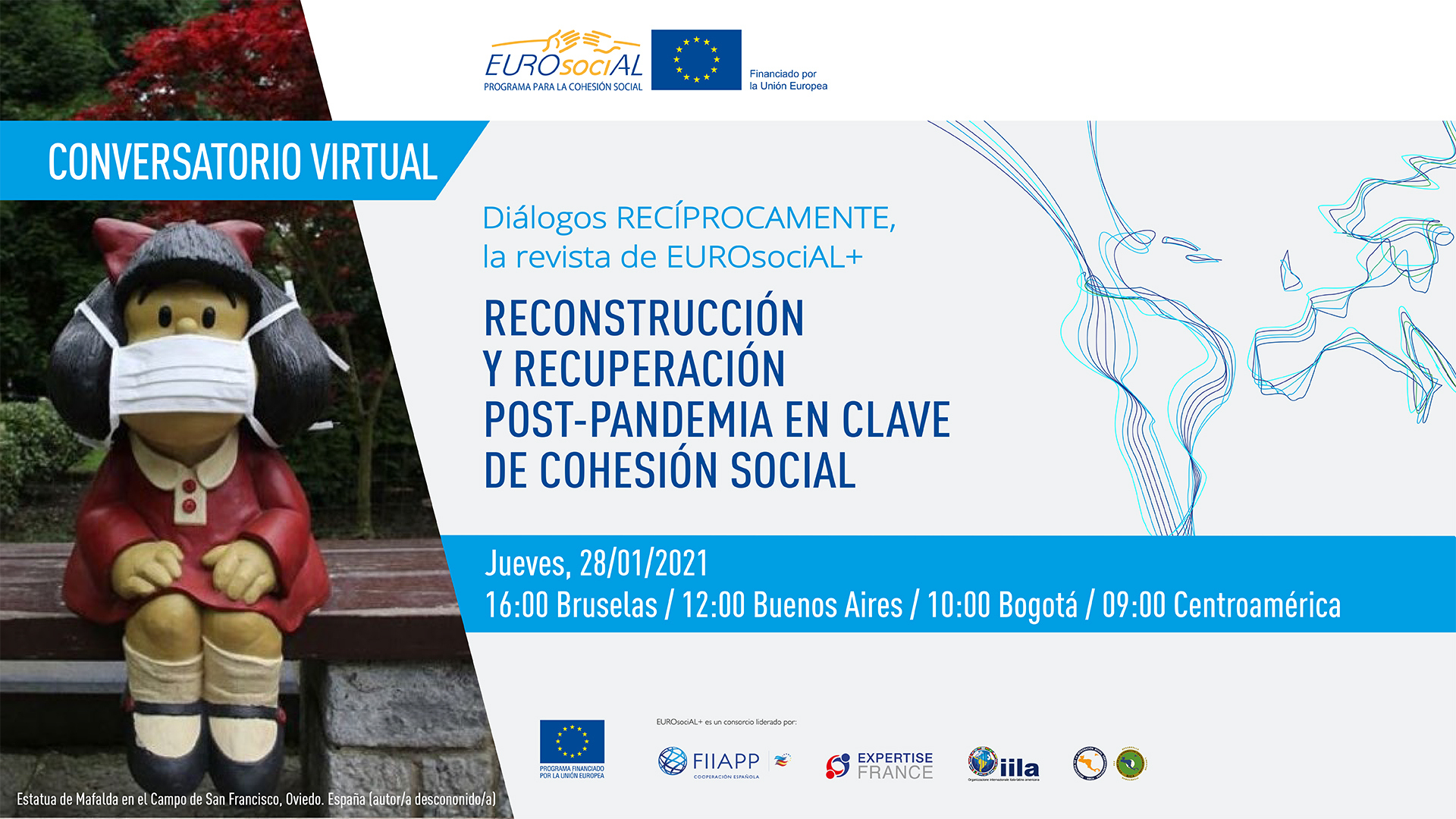 "Presentation of the magazine RECÍPROCAMENTE ""Post-COVID-19 reconstruction and recovery in terms of social cohesion"""