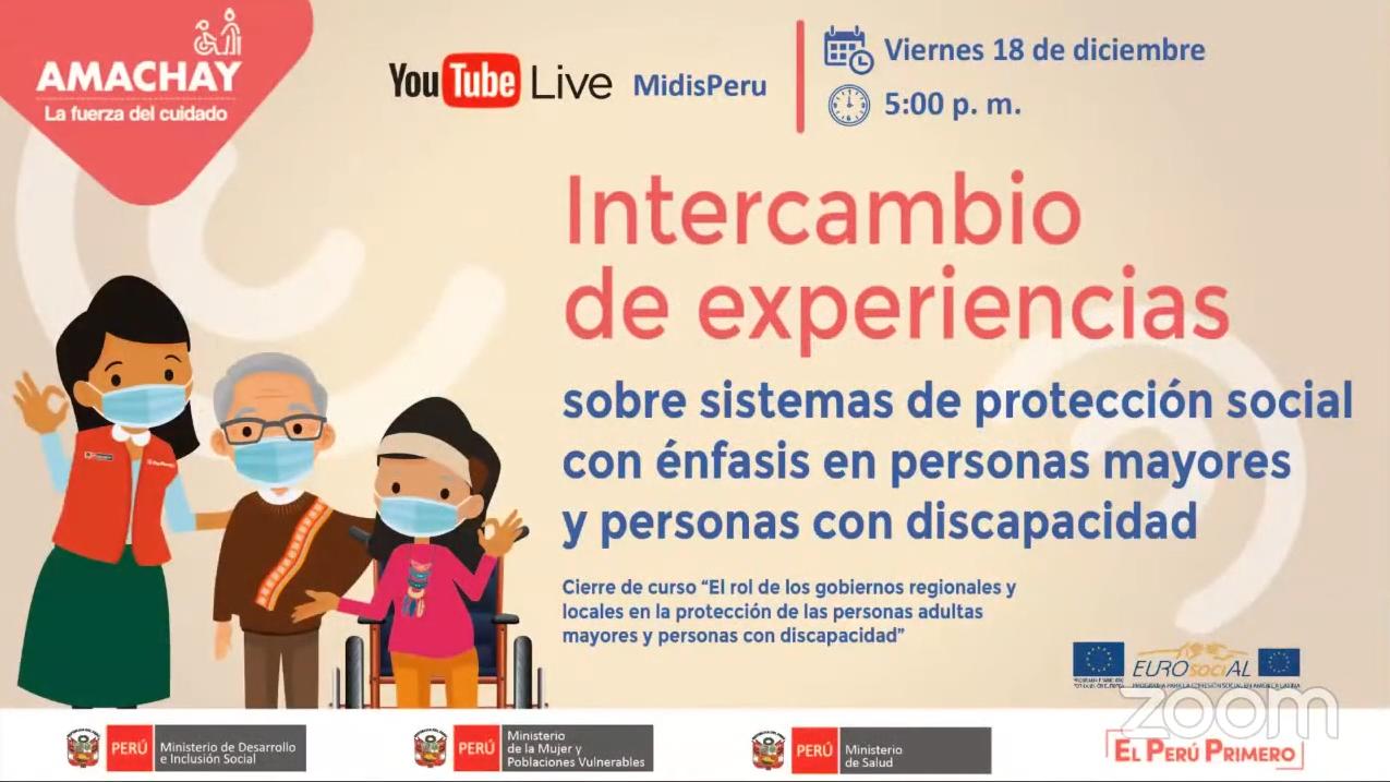 Intercambio de experiencias sobre sistemas de protección social con énfasis en personas mayores y personas con discapacidad