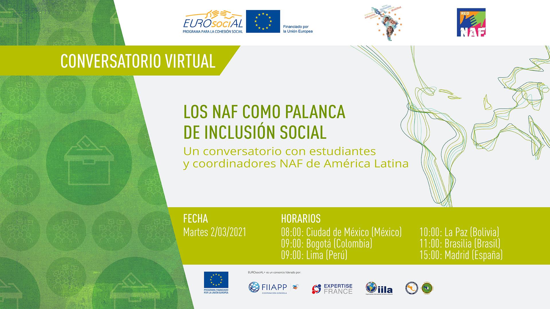 Los NAF como palanca de inclusión social. Un conversatorio con estudiantes y coordinadores NAF de América Latina
