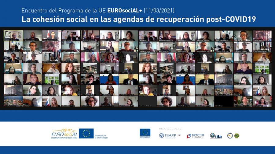 Autoridades de Europa y América Latina debaten sobre los retos de la cohesión social en las agendas de recuperación post-Covid19