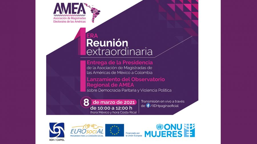 First Extraordinary Meeting: The transfer of the presidency of the Association of Magistrates of the Americas from Mexico to Colombia and the launch of AMEA's Regional Observatory