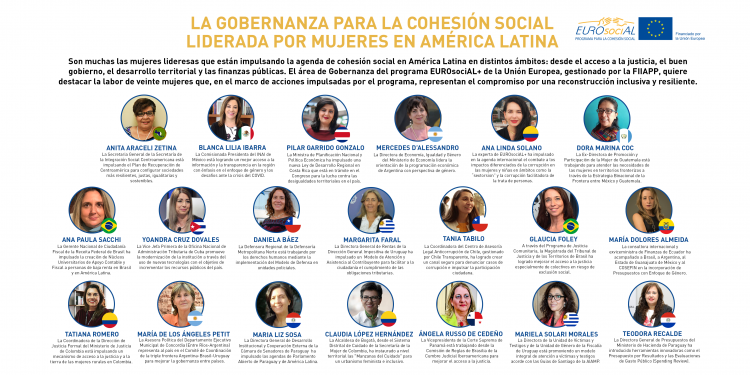 La Gobernanza para la Cohesión Social liderada por mujeres en América Latina
