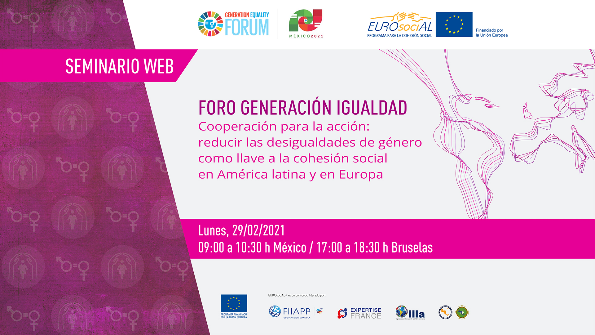 "Generation Equality Forum: ""Cooperation for action: reducing gender inequalities as a key to social cohesion in Latin America and Europe"""