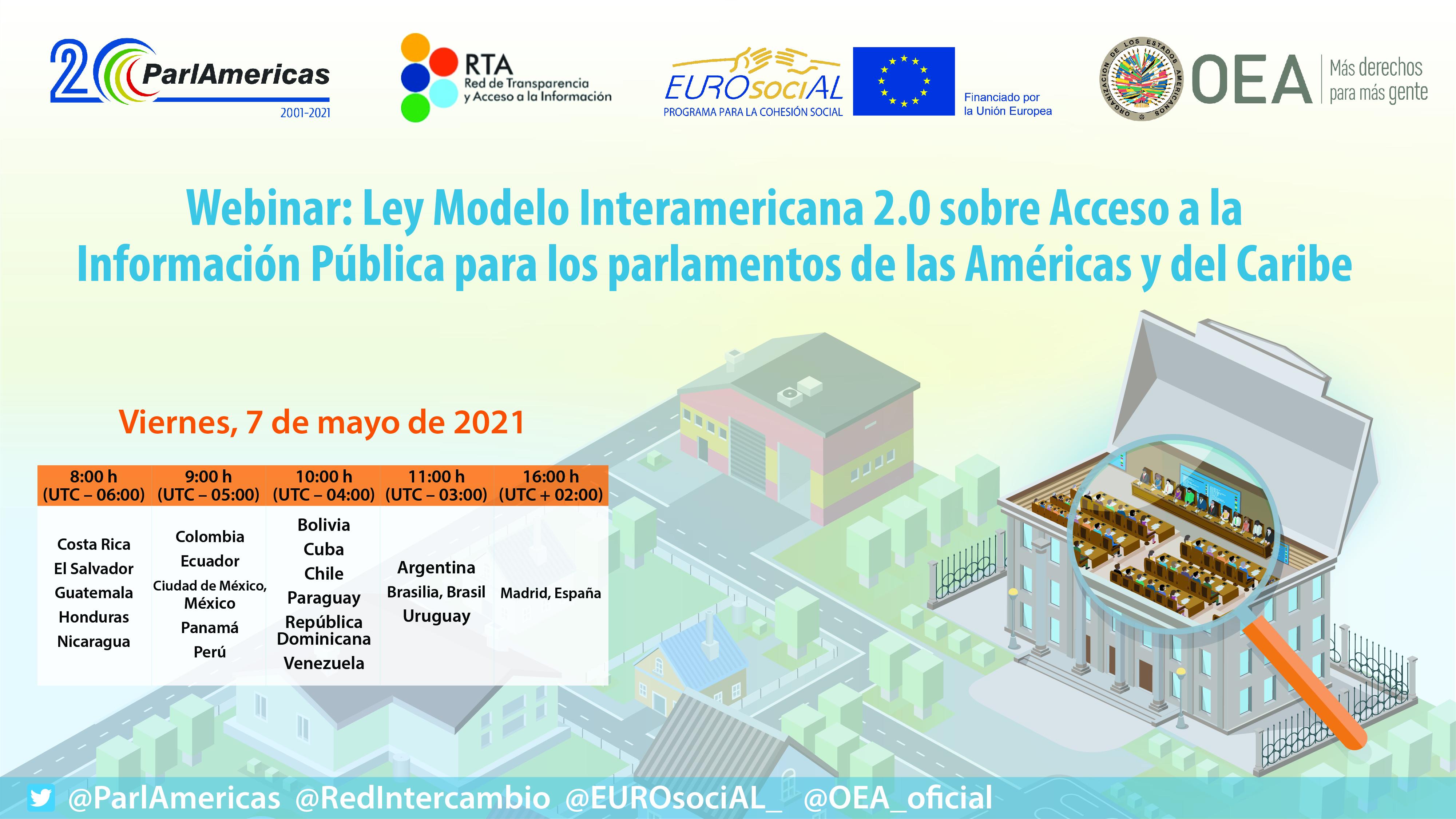 Ley Modelo Interamericana 2.0 sobre Acceso a la Información Pública para los parlamentos de las Américas y del Caribe