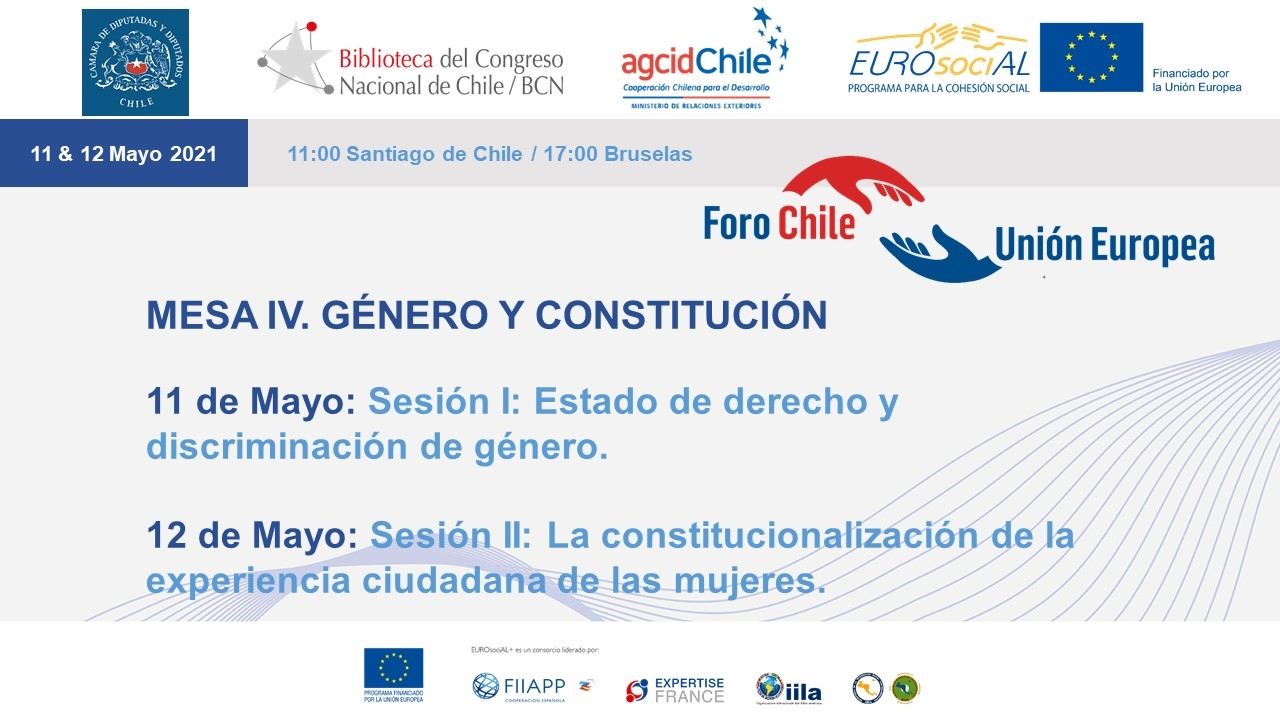 Chile-European Union round table meetings. Round table IV: Gender and Constitution