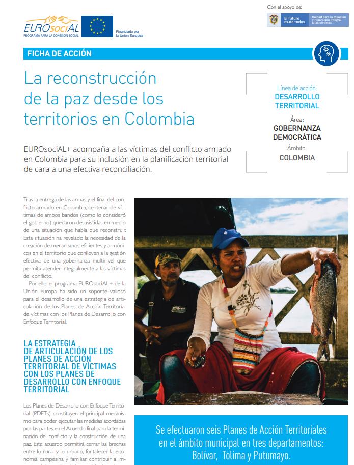 La reconstrucción de la paz desde los territorios en Colombia