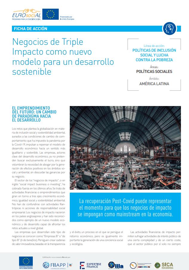 Negocios de Triple Impacto como nuevo modelo para un desarrollo sostenible