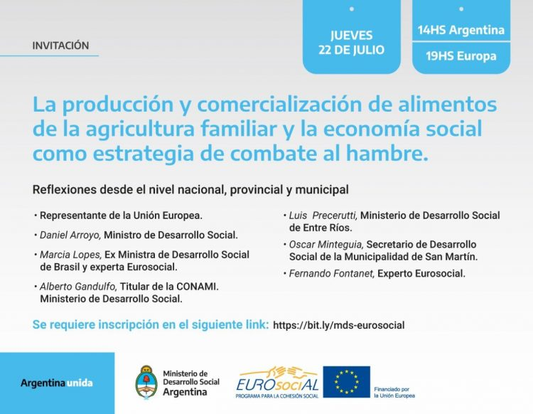 La producción y comercialización de alimentos de la agricultura familiar y la economía social como estrategia de combate al hambre