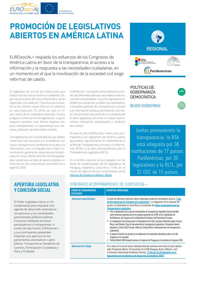 Promoción de Legislativos Abiertos en América Latina