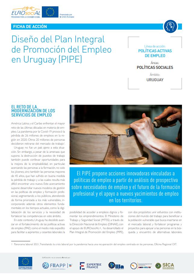Diseño del Plan Integral de Promoción del Empleo en Uruguay (PIPE)