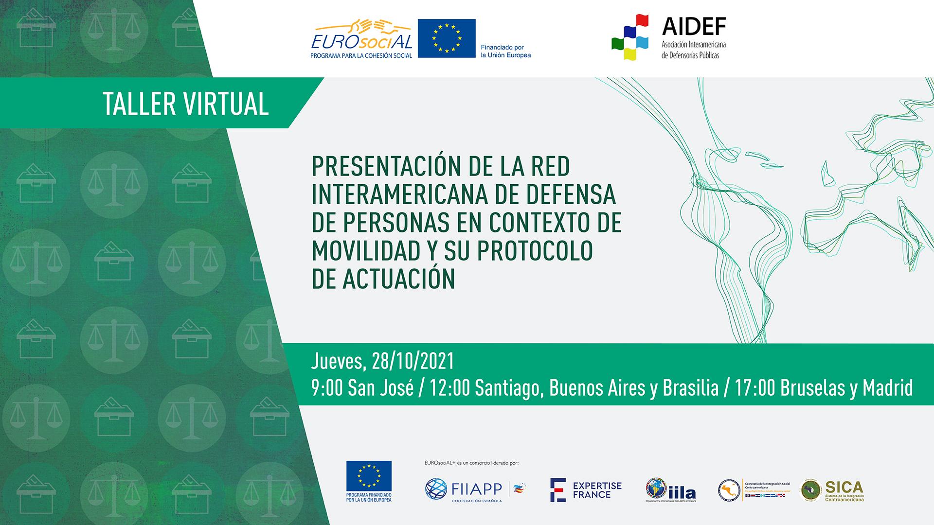 Presentación de la Red Interamericana de Defensa de Personas en Contexto de Movilidad  y su Protocolo de Actuación